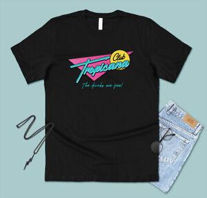 Club Tropicana T-shirt Tee Funny 80's Fancy Dress Party Retro Music George Neon