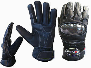 Vented Genuine Leather Motorbike Motorcycle Gloves Knuckle Protection