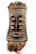Art Africain - Grand Masque Grebo - Fibres Végétales Tressées - Pièce TOP 78Cms