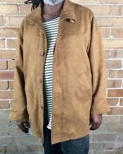 Mens Suade Tan Jacket Size Large Recycled Vintage