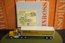 Winross Diecast 1/64 Scale Truck Caterpillar York,Pa Cargo 1988