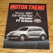 2001 Chrysler PT Cruiser Motor Trend Car of the Year Sales Brochure 01
