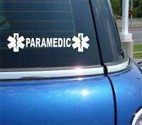 Paramedic + Star Life Emergency Medical Decal Sticker Car Vinyl