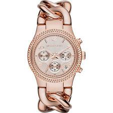 KORS MK3247 Oro Rosa Señoras MICHAEL RUNWAY TWIST Reloj