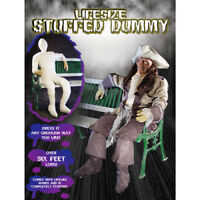 Life-Size Halloween Stuffed Dummy With Lifelike Hands, 6 Ft Tall