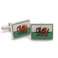 Super Welsh Flag Cufflinks by Onyx Art Cymru Dragon New Boxed CK116