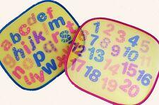 Set Di 2 Con Stampa Auto Parasole Alfabeto Numero Segno Bambini Finestra