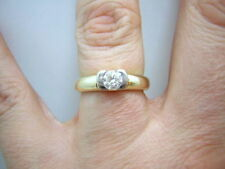BRILLANT SOLITÄR RING IN 585/000 GELBGOLD 0.50CT SONDERPREIS GR55 T19