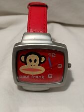 Paul  Frank Industries Julius The Monkey Watch Red Grey Frame Monkey Face Dial