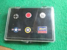 6 X HASEGAWA AIRCRAFT INSIGNIA BADGES IN CASE (LOT R96)