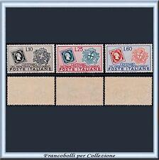 1951 Italia Repubblica Francobolli Sardegna n. 672/674 Nuovi Integri **