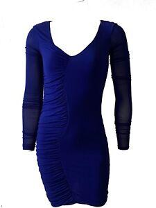 Patrizia Pepe Womens Italian Designer Blue Bodycon Dress Size 1