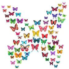 72pcs 3D Butterfly Wall Stickers Home Kids Living Room Decor Magnetic Removable