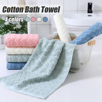 1pc 100% Cotton Bath Towel Face Care Hand Cloth Soft Towel Bathroom for Adults ~