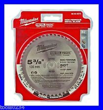 "New Milwaukee 48-40-4075 Non-Ferrous Metal Circular Saw Blade 5-3/8"" 50T"