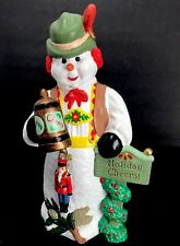Drinking Snowman Holiday Cheers Toy Soldier Stein German Vest Hand Painted