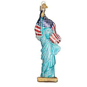 Old World Christmas STATUE OF LIBERTY (10181)N Glass Ornament w/ OWC Box