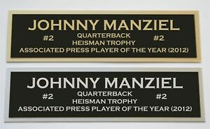 Johnny Manziel nameplate for signed jersey football helmet or photo