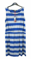 Marks and Spencer Blue & Grey Striped T-Shirt Dress Size 16