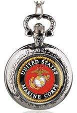 A United States Marines Quartz Small Pocket Watch in a Beautiful Silver finish