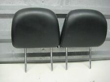 2005-2007 INFINITI G35 OEM FRONT SEAT HEAD RESTS HEADRESTS BLACK LEATHER PAIR