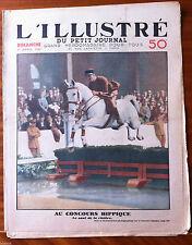 L'illustré du petit Journal 1/04/1934; Au concours Hippique