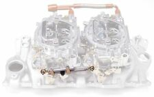 EdelBrock 7094 Performer Series Progressive Throttle Linkage Dual Quad Kit Carb