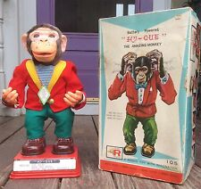"BATTERY OPERATED 17"" HY-QUE THE AMAZING MONKEY, MIB, 1960'S JAPAN, WORKING!"
