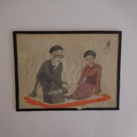 Encre peinture soie fait main ink painting silk handmade Asia China Japan PN Fr