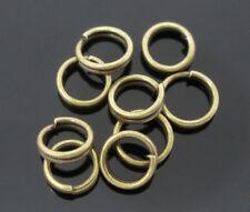 LOT de 250 ANNEAUX DOUBLES BRISES sans nickel 5mm bronze perles création bijoux