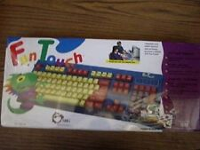 SIIG Kids Spill Resistant Computer Keyboard Fun Touch AT Connector WIN DOS NEW