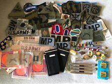 Vintage Huge Junk Drawer Lot Us Military Pins Ribbons Chevron & More