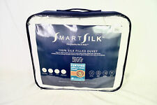 SmartSilk 100% Silk Filled Duvet Queen Cotton Shell Quilted Hypoallergenic