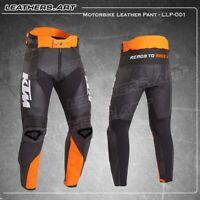 Ktm Men Motorcycle motorbike racing leather Pant  LLP-001 (USA 38-48)