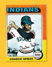 1975 Topps Mini Charlie Spikes Cleveland Indians #135 (KCR)