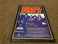 """(BEBK59) ADVERT/POSTER 11X8"""" KISS : ALIVE/WORLDWIDE TOUR DATES 96-97 VERVE PIPE"""