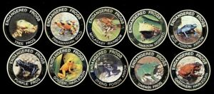 MALAWI 2010 10 KWACHA ENDANGERED FROGS COMPLETE 10 COIN PROOF SET CAT. $24 EACH