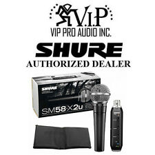 Shure SM58-X2U Cardioid Microphone X2U USB Adapter  Plug & Play USB Connectivity
