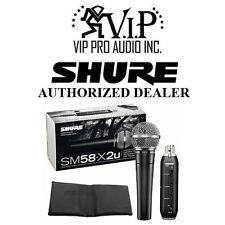 Shure SM58-X2U Cardioid Microphone X2U USB Adapter  Plug & Play USB Connectivity