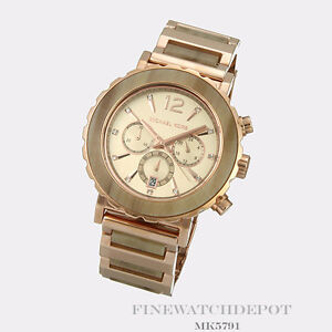 Authentic Stainless Steel Lille Sand Acetate Rose Gold Michael Kors Watch MK5791