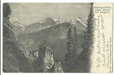 Jungfrau & More, on 1905 Redirected PPC, Schynige Platte & Chester PMK's