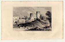 DUDLEY CASTLE - WORCESTERSHIRE - England - Stahlstich 1835