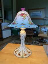 """NWT Porcelain Royal Albert Old Country Rose Lamp 16"""" tall"""