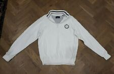 Henri Lloyd Mens White Half Zip Sweater Jumper Size M