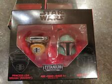 Star Wars Titanium Black Series Princess Leia Organa & Boba Fett Helmets 07 NEW