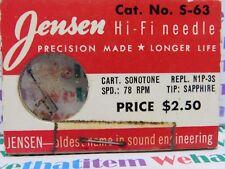 JENSEN / S-63 / REPLACES SONOTONE N1P-3S / 1 PIECE (qzty)