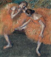 Two Dancers Edgar Degas Ballerina Painting Print House Decor Giclee Small 8x10