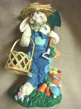 Nib Cottontale Collection Farmer Bunny Straw Hat & Basket of Carrots