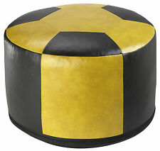 Sitzkissen Sitzhocker Fußkissen Pouf Hocker Kissen Fußball Kunstleder