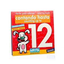Libro para Colorear: Contando hasta el 12 en inglés y en español edad: 3 más